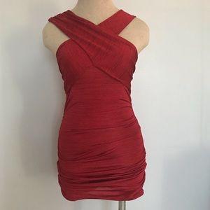 NWT A|X Red bodycon dress